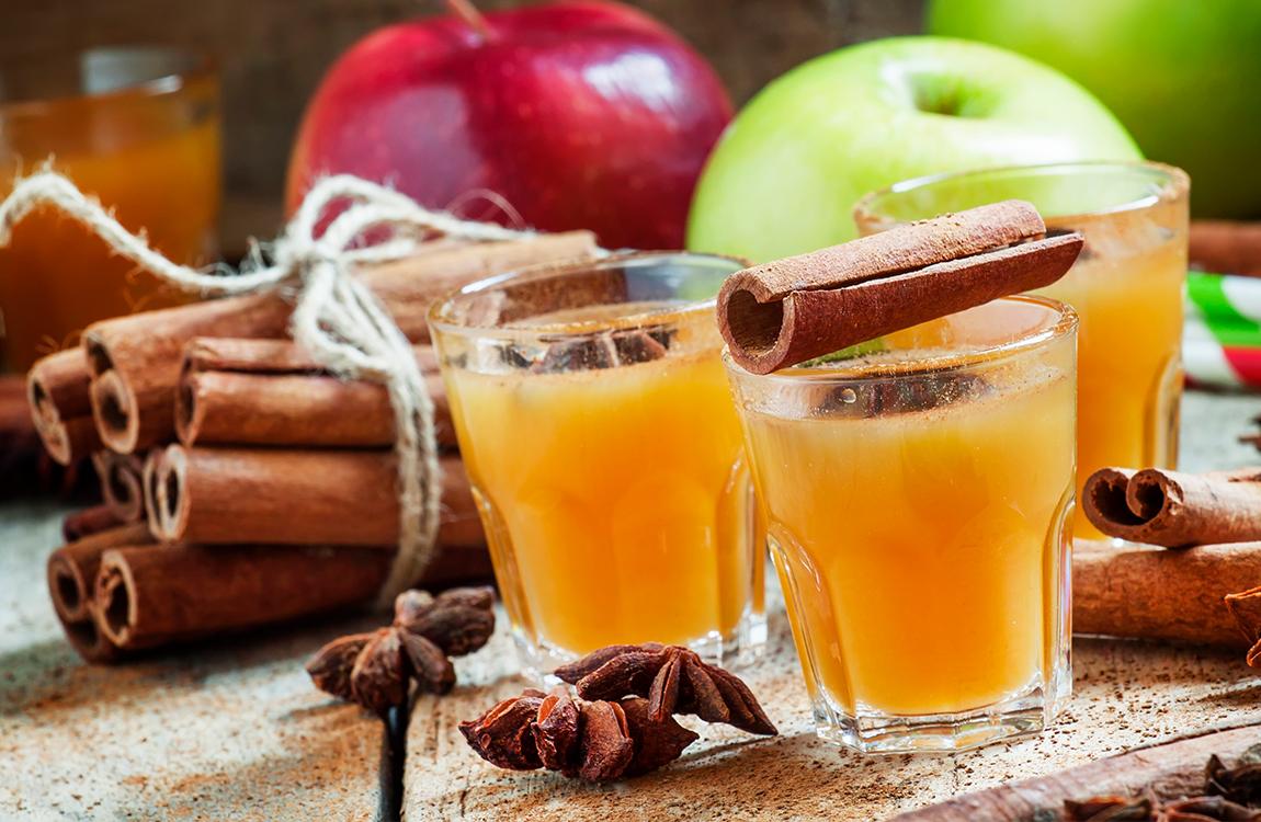 Winterlicher Apfel Orangen Ingwer Punsch